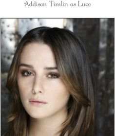 Addison Timlin is perfect for playing Luci in the Fallen :* Addison Timlin, Fallen Series, Fallen Saga, Lauren Kate, Movies And Series, Book Series, Beautiful People, Beautiful Women, Hollywood Actor