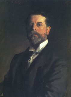 "John Singer Sargent, self portrait, 1906-His inordinate technical facility, coupled with his ability to portray elegant sitters in sumptuous surroundings, made him extremely popular w wealthy patrons on both sides of the Atlantic. Despite his success as one of the most sought–after portraitists of the late Victorian era, he eventually became exasperated by the whim& vanities of prominent sitters. By 1909 he abandoned conventional portraiture in order to ""experiment w more imaginary fields."""