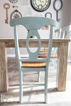 Distressed Dining Room Table Home Ideas Chalk Paint Chairs, Painted Dining Chairs, Antique Dining Chairs, Dining Room Chairs, Arm Chairs, Office Chairs, Accent Chairs, High Chairs, Duck Egg Blue Dining Chairs