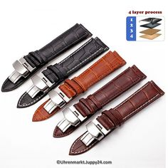 Cheap butterfly deployment, Buy Quality deployment buckle directly from China watch accessories Suppliers: TEAROKE Leather Watch Band Strap Butterfly Deployant Buckle 12 14 16 18 19 Polished Metal Clasp Watch Accessories Bracelet Clasps, Bracelet Watch, Replacement Watch Bands, Fossil Watches For Men, Leather Buckle, Cow Leather, Leather Watch Bands, Belts For Women, Fashion Bracelets