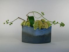 Ikebana in green and blue