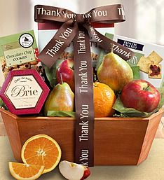 $60 Thank You Fresh From the Orchard Fruit Gift Basket