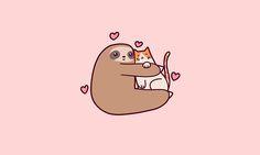 Sloth Loves Cat