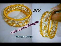 Silk thread bangle Easy methods to make silk thread bangle Silk Thread Bangles Design, Silk Bangles, Bridal Bangles, Thread Jewellery, Diy Jewellery, Jewelry Shop, Jewelry Ideas, How To Make Necklaces, Handmade Jewelry