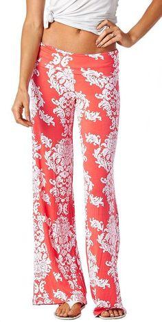 Popana Damask Palazzo Pants - Made In USA at Amazon Women's Clothing store  24.99