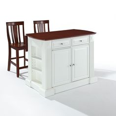 breakfast bar top kitchen island with quot shield back stools white home styles monarch two