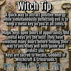 Witch Tip - This is so cool! I've always loved keys. Especially vintage ones