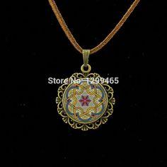 Latest Buddhism Mandala Jewelry Retro ethn style Leather Necklace Vintage Krishna Mediterranean tile pattern jewelry L 292 //Price: $US $1.28 & FREE Shipping //     #hashtag1