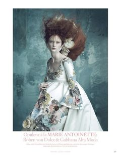 Celestial Monarch Editorials - This Lindsay Wixson Editorial is an Ode to Marie Antoinette (GALLERY)