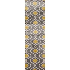Give your hallway a boost with this fashionable modern rug.