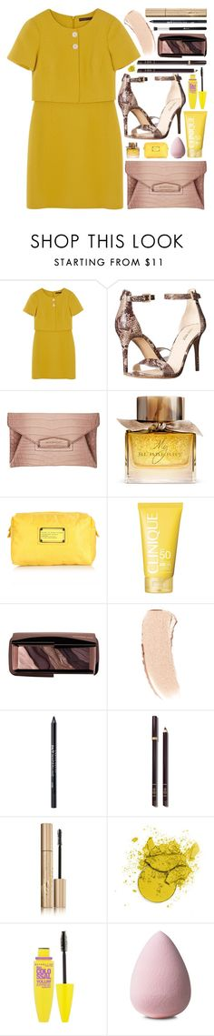 """""""Untitled #59"""" by purple-berries ❤ liked on Polyvore featuring Karen Millen, Nine West, Givenchy, Burberry, Marc Jacobs, Clinique, Hourglass Cosmetics, Bobbi Brown Cosmetics, Urban Decay and Tom Ford"""