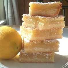 "Lemon Square Bars | ""Man, oh man, oh man are these GOOD!"""