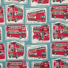 London Buses Cotton Duck from Cath Kidson