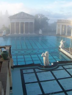 Hearst Castle pool, bath house and (off picture to left) guest house... part of the amazing San Simeon property