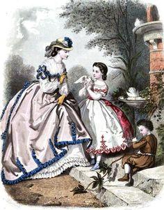 1864.  La Mode Illustree.  Braid on scallops.