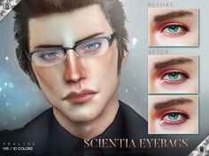 The Sims Resource: Scientia Eyebags N15 by Pralinesims • Sims 4 Downloads