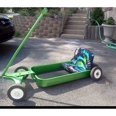 custom radio flyer wagon made for car shows walking trails and fairs ! Bike Wagon, Toy Wagon, Custom Radio Flyer Wagon, Radio Flyer Wagons, Soap Box Cars, Pull Wagon, Little Red Wagon, Kids Ride On, Pedal Cars