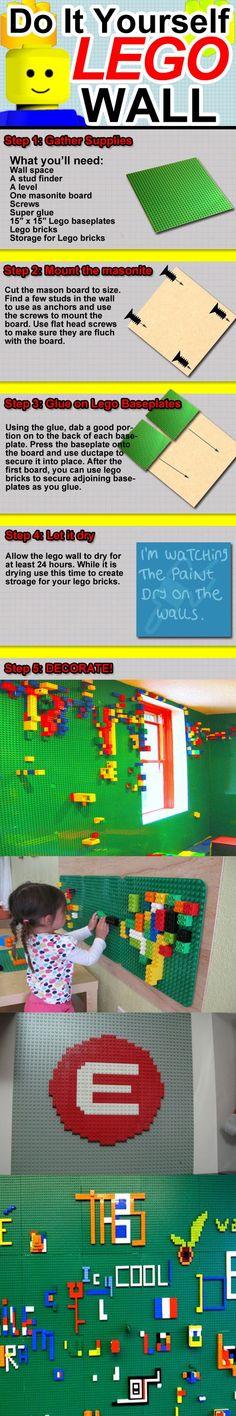 Genialll!! paredes de LEGO!  / LEGO WALLS!