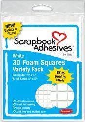 3D Foam Squares Assortment