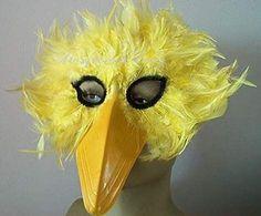 bird mask yellow chicken feather beak costume accessory prop nice