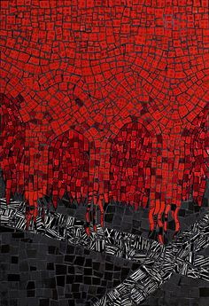 """All I See is Red"" by Virginia Gardner by Contemporary Mosaic Art, via Flickr"