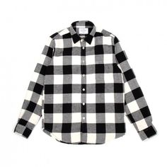 Portuguese Flannel Bufalo Shirt (Black & White) ($50) ❤ liked on Polyvore featuring men's fashion, men's clothing, men's shirts, men's casual shirts, mens tailored shirts, mens black and white flannel shirt, mens checkered shirts and mens black and white checked shirt