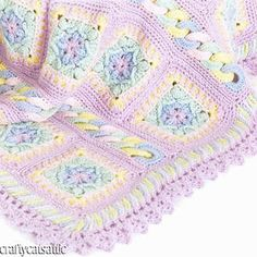gorgeous crochet baby blanket pattern - girl
