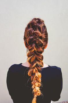 Dutch Braid Faux Hawk Hair Tutorial