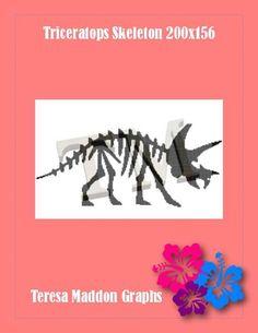 Name: 'Crocheting : Triceratops Skeleton Plastic Canvas, Handmade Crafts, Skeleton, Crocheting, Moose Art, Cross Stitch, Knitting, Pattern, Crochet