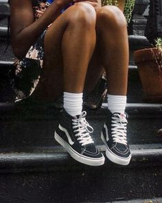 vans forever. stylish vans and socks look