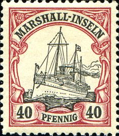 "Marshall Islands 1901 Yacht ""Hohenzollern II"" Issue  [MiNr 19, Sc 19] 40pf"