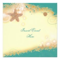 Free Beach Theme Invitation Templates | Beach Wedding Elegant Party Theme