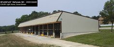 45'x232'x15' Cleary Dairy and Livestock Building in DeForest, WI | Colors: Light Stone, Cocoa Brown,