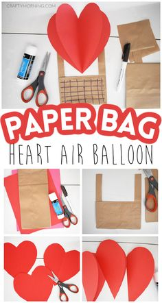 Valentine's Day Crafts For Kids, Craft Projects For Kids, Kid Crafts, Art For Kids, Valentines Day Activities, Valentine Day Crafts, Preschool Themes, Preschool Crafts, Air Balloon