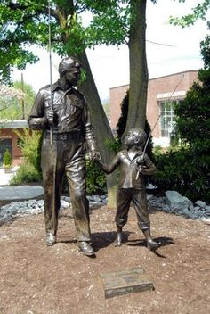 The statue of Andy and Opie was a gift from TV Land