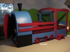 Any one heard of Ana White? Thomas Bedroom, Train Bedroom, Diy Toddler Bed, Diy Cardboard Furniture, Baby Girl Toys, Kids Room Design, Kids Corner, Ana White, Kid Beds
