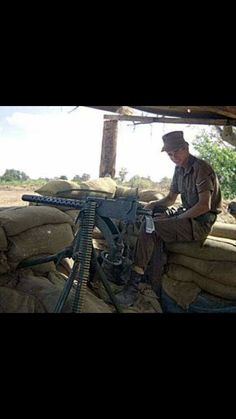 SADF position with Browning M1919.