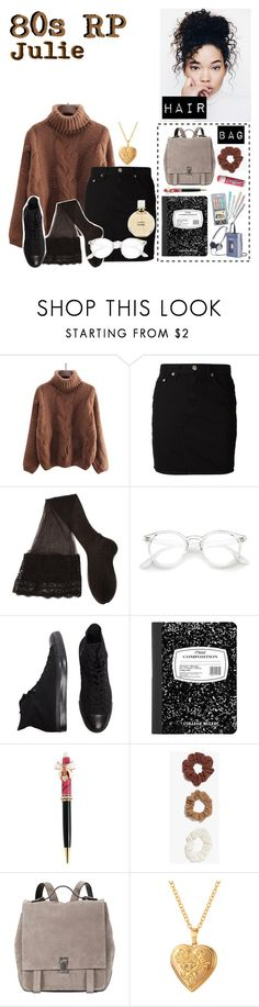 """""""80s RP"""" by squishy-bubble-tea ❤ liked on Polyvore featuring rag & bone/JEAN, CERVIN, Converse, Betsey Johnson, Boohoo, Proenza Schouler, Chapstick and Chanel"""