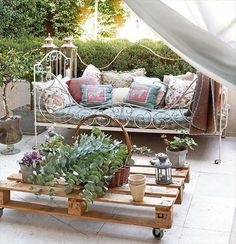 Beautify Your Home with Wooden Crate Furniture...like the bed, too.