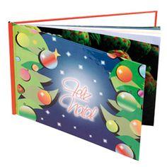 """ÁLBUM """"FELIZ NATAL"""" - Dimensão do álbum :: 20 x 30cm   Características :: 12 páginas;   Álbum Clássico Capa FELIZ NATAL     Sem qualquer tipo de Layout - 100% livre  Sugestões :: Crie um Álbum de   Natal em cada ano e recorde   assim tudo o que viveu!  Papel laser digital - Saiba mais em: http://www.fotosport.pt/gca/coleccoes/natal/albuns"""