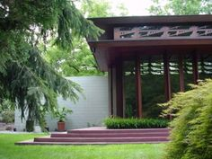 """moving Frank Lloyd Wright's Bachman Wilson House from Millstone, N.J., to tony Sagaponac. (Nope, this isn't an April Fool's joke.) c. 1954 house was rescued from disrepair in the late '80s by Tarantino Architects, who restored the structure through and through. .. move it to the Houses at Sagaponac, an uber-modern development that """"provides a possible unique sanctuary"""" and a """"neighborhood of well-designed houses that emulates a similar design philosophy,"""" .. the Brown Harris Stevens listing"""