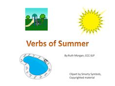 Chapel Hill Snippets: Verbs of Summer--Free Printable Interactive book
