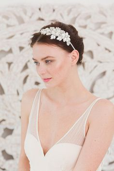 Flower Diamante Headpiece -  Boho and Deco Inspired Accessories Collection 2015 from Britten Weddings