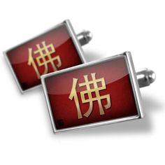 "Neonblond Cufflinks ""Buddha"" Chinese characters, letter red / yellow - cuff links for man NEONBLOND Cufflinks. $29.90. Comes with our Free Velvet / Satin Bag. Products are Assembled in America. We have more then 4000 different Cufflinks. Unique Gift for the Modern Classic Man. Standard Size is approximately 19mm x 12mm"