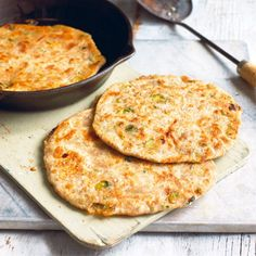 Onion pancakes recipe from 'The Vegan Pantry' by Dunja Gulin