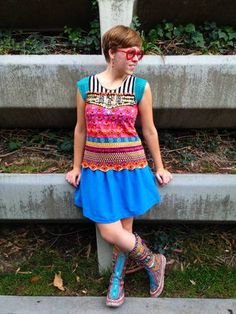 julibooli@Craftster Rainbow psychedelic tee (now with link to the boots) - CLOTHING