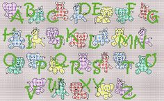 cross stitch alphabet for baby Baby Cross Stitch Patterns, Cross Stitch Baby, Cross Stitch Charts, Cross Stitch Designs, Cross Stitch Letters, Cross Stitch Books, Dmc Embroidery Floss, Cross Stitch Embroidery, Cute Alphabet