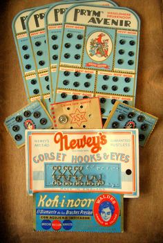Vintage Koh I Noor and Newley's Snappers and Hooks and Eyes