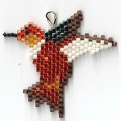 Rufous Hummingbird Earrings by Edithscustomcrafts on Etsy, $14.99