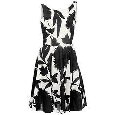 Schwarz weißes #Kleid mit #Print, ein femininer #Businesslook! ab 49,90€ ♥ Hier kaufen: http://www.stylefru.it/s750165 #casualkleid #schwarzweiss